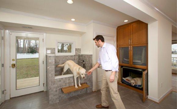 Ванна для собак в интерьере